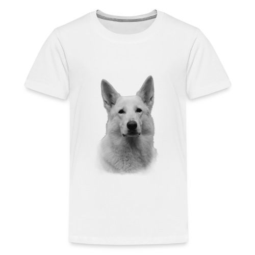 Valkoinenpaimenkoira - Teinien premium t-paita