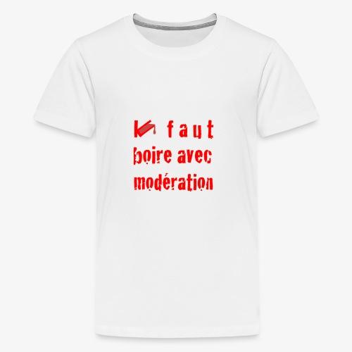 test t shirt FACE ROUGE - T-shirt Premium Ado