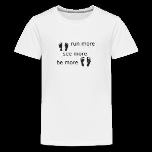 Run Collection - Premium T-skjorte for tenåringer