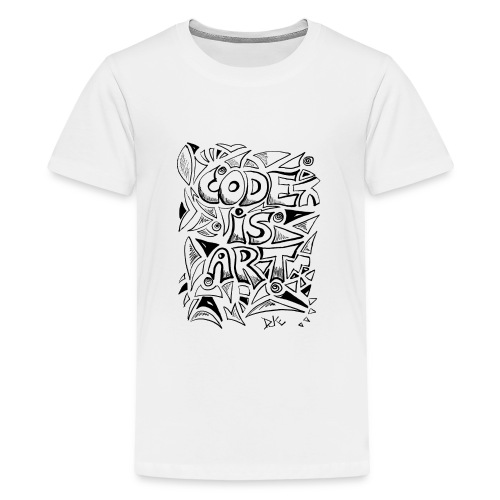 Code is art - Teenager Premium T-Shirt