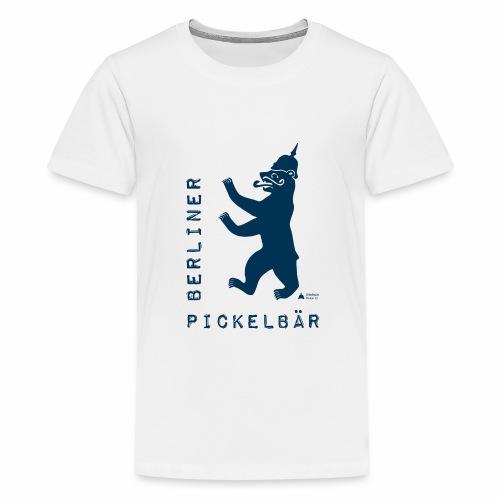Berliner Pickelbär (Dark Blue) - Teenage Premium T-Shirt