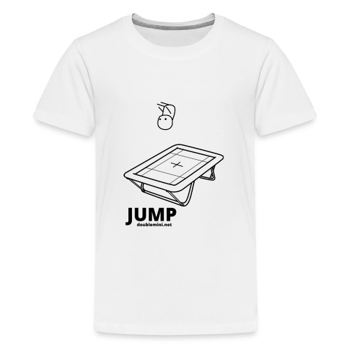 Trampoline JUMP shirt white - Teenage Premium T-Shirt