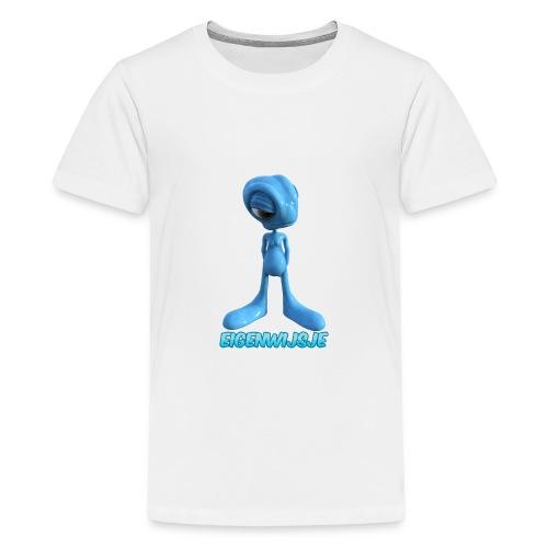 blauwe eigenwijze alien - Teenager Premium T-shirt