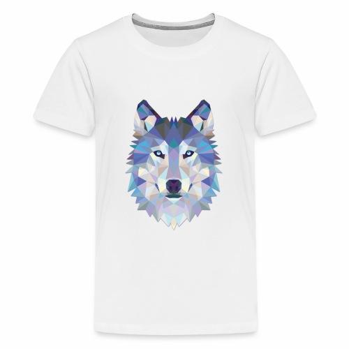 Loup Origami - T-shirt Premium Ado