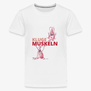 Kluge Muskeln - Teenager Premium T-Shirt
