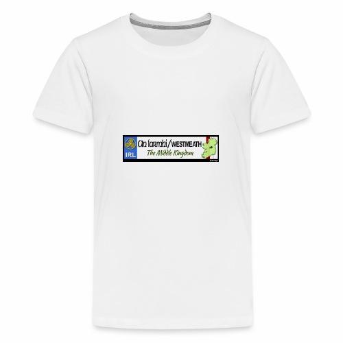 WESTMEATH, IRELAND: licence plate tag style decal - Teenage Premium T-Shirt