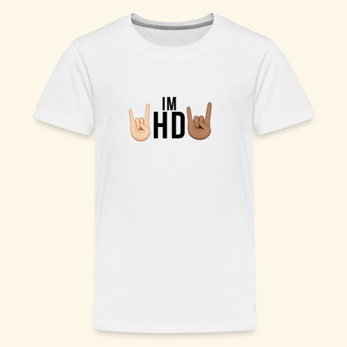 Im hd black logo - Teenage Premium T-Shirt