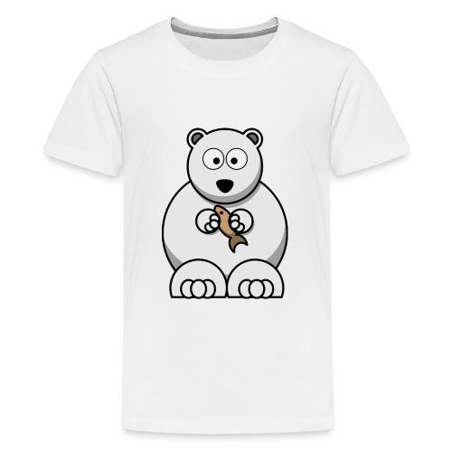 ours blanc - T-shirt Premium Ado