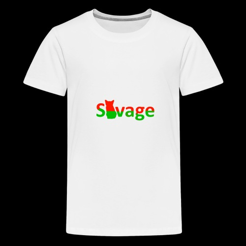 Savage Christmas Edition - Teenage Premium T-Shirt