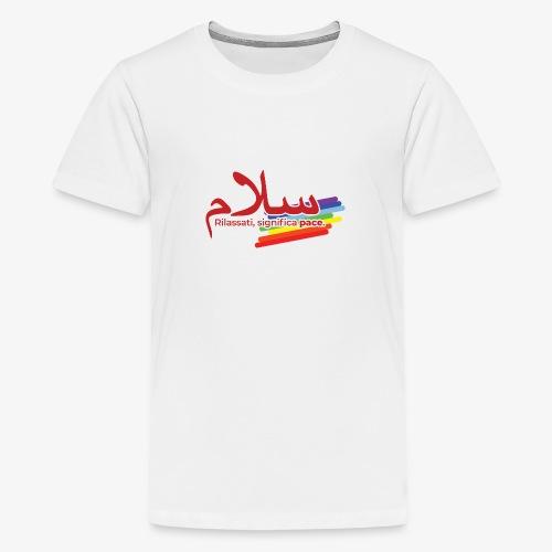 rilassati significa pace colori arcobaleno - Maglietta Premium per ragazzi