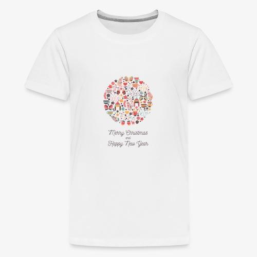 Merry Christmas and Happy New Year - T-shirt Premium Ado