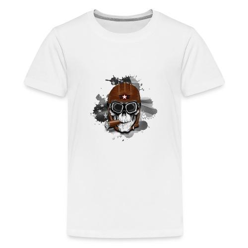 20-16 AMERICAN PILOT - SKULL - USA - LAHJATUOTTEET - Teinien premium t-paita
