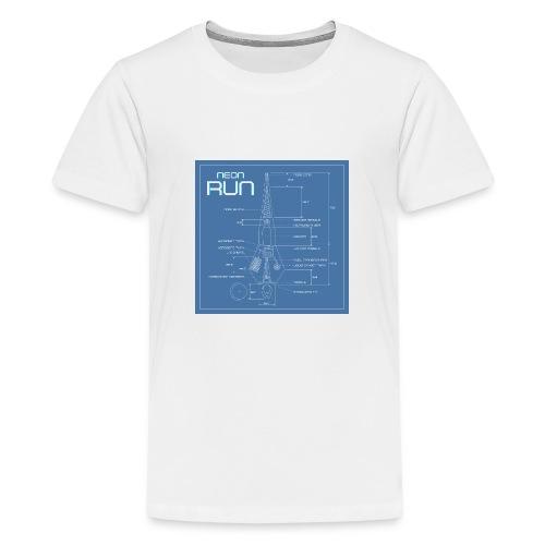 NeonRun blueprint - Teenager Premium T-shirt