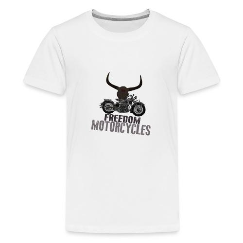 FREEDOM MOTORCYCLES - Camiseta premium adolescente