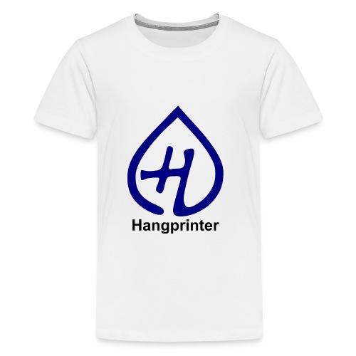 Hangprinter logo and text - Premium-T-shirt tonåring