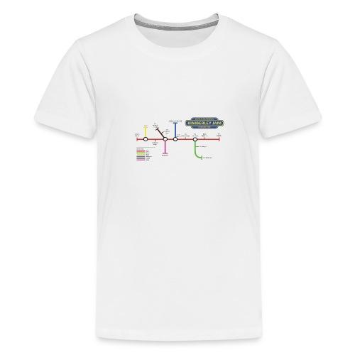 Kimberley Jam Map - Teenage Premium T-Shirt