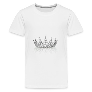 Queen crown design - Teenage Premium T-Shirt