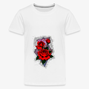 Flowers Geo - Teenage Premium T-Shirt