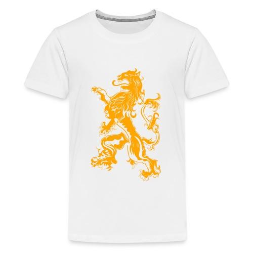 NL Leeuw Oranje Koningsdag - Teenager Premium T-shirt