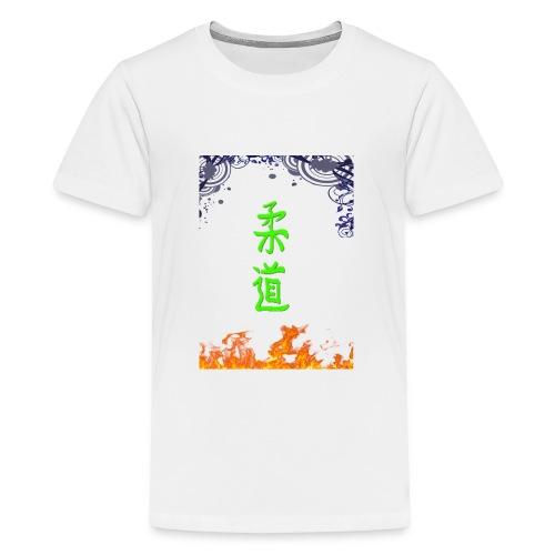 Judo On Fire - T-shirt Premium Ado