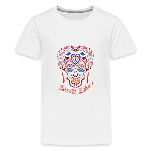 Skull Tattoo Art - Teenage Premium T-Shirt