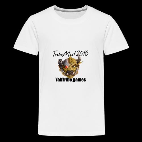 YakTribe TribeMeet 2018 Light - Teenage Premium T-Shirt