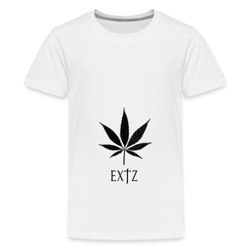 Vetement Marque EXTZ Feuille De Canabis Noir. - T-shirt Premium Ado