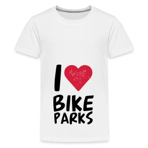 I HEART BIKE PARKS - Teenager Premium T-Shirt