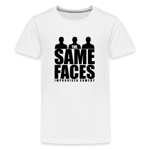 Same Faces Logo - Black - Teenage Premium T-Shirt