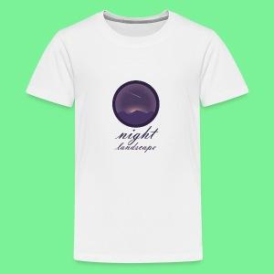 Landschaft bei Nacht - Teenager Premium T-Shirt