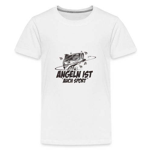Angeln ist auch Sport - Teenager Premium T-Shirt