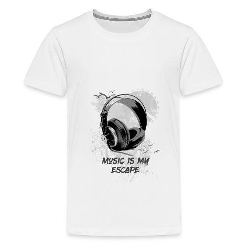 music is my escape - T-shirt Premium Ado