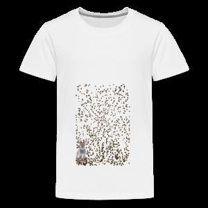 rabbit droppings mogosop - Teenager Premium T-shirt