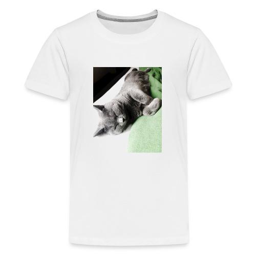 Träumender Kater lädt zum Kuscheln ein - Teenager Premium T-Shirt