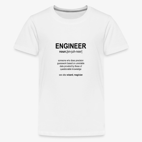 Engineer Def. 1 (Black) - T-shirt Premium Ado