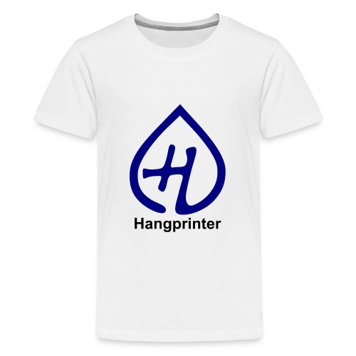 Hangprinter logo and text - Premium-T-shirt tonåring