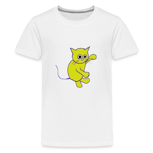 Hugo Puddlebucket Meow the cat - Teenage Premium T-Shirt