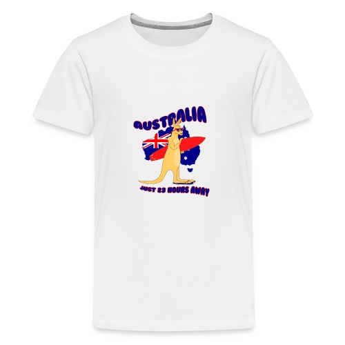 Surfing Kangaroo Australia - Teenager Premium T-Shirt