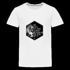 Lion Coming Soon by JT4Christ - Teenage Premium T-Shirt