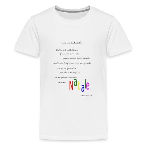 Poesia di Natale 2016 - Maglietta Premium per ragazzi