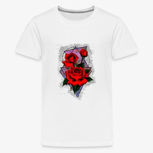 Flowers Geo - Teenage Premium T-Shirt