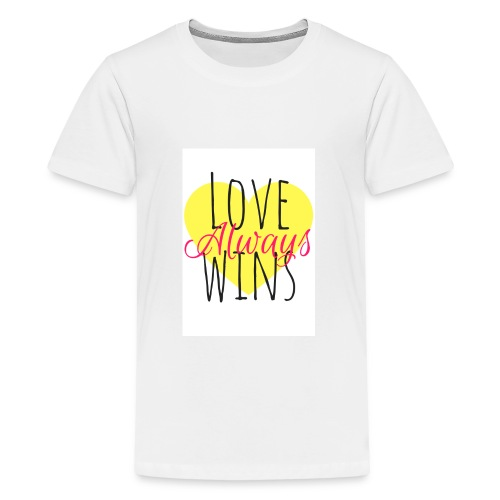 Love Always wins - Teenage Premium T-Shirt
