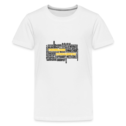 FWH - Wortwolke - Teenager Premium T-Shirt