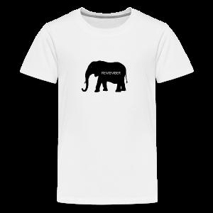 Elephant Collection - Premium T-skjorte for tenåringer