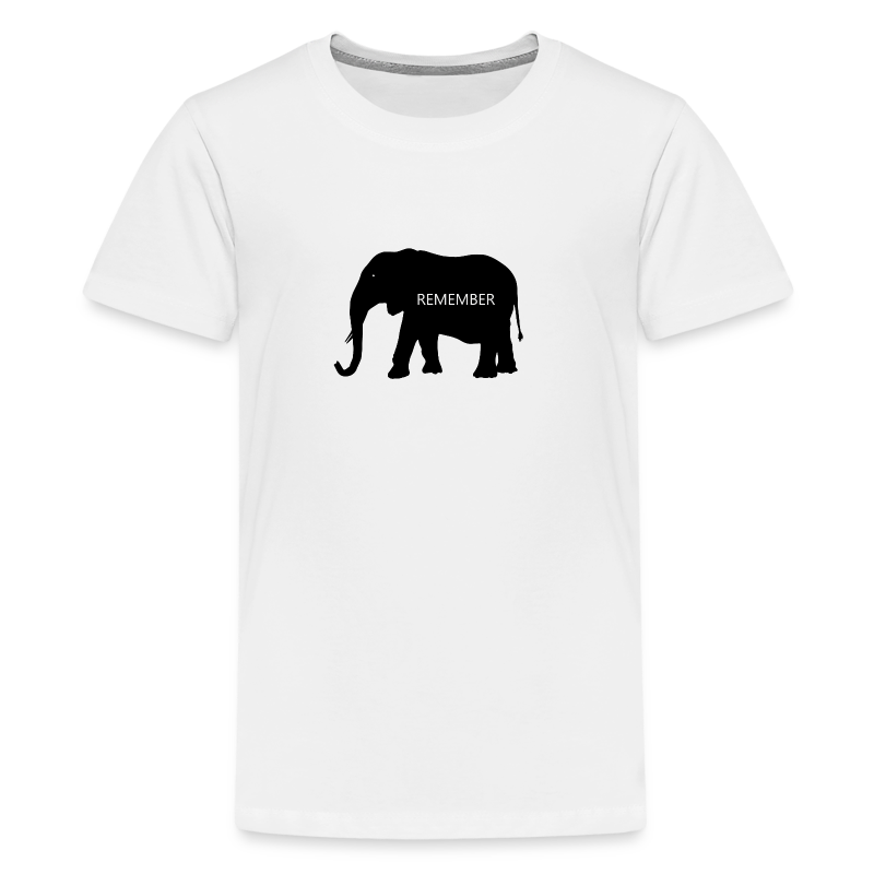 Elephant Collection - Premium T-skjorte for tenåringer