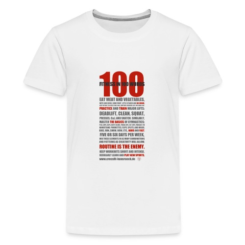 100 WORDS light shirt - Teenager Premium T-Shirt