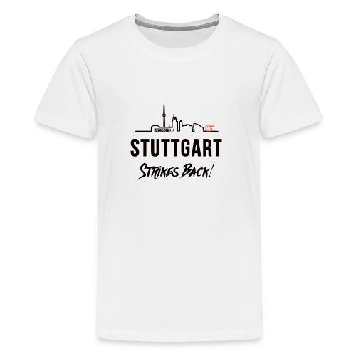 Stuttgart Strikes Back Skyline - Teenager Premium T-Shirt