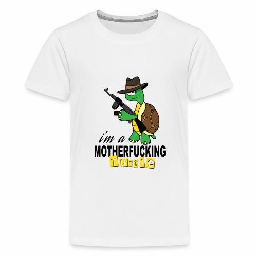Gangster Schildkröte Geschenk Cool - Teenager Premium T-Shirt