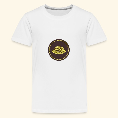 Mandala lotus marron jaune - T-shirt Premium Ado