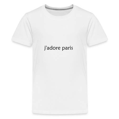 'I Love Paris' French - Teenage Premium T-Shirt